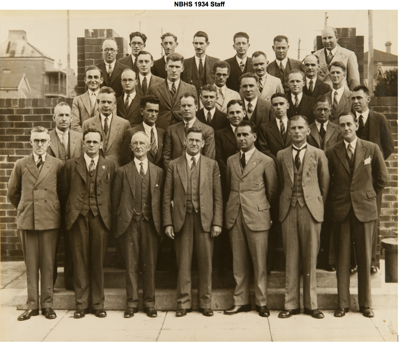 NBHS 1934 Staff