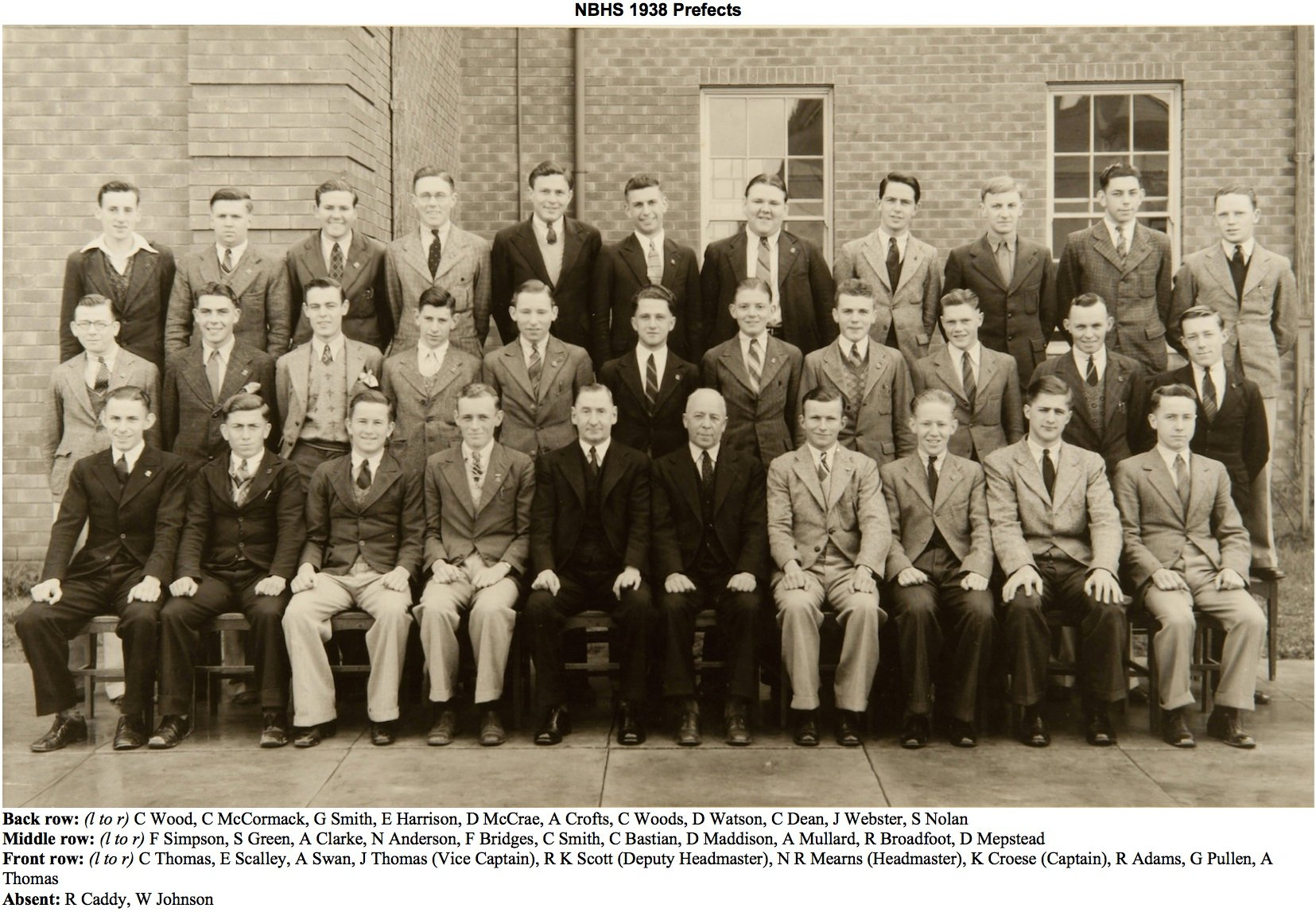 1938 Prefects
